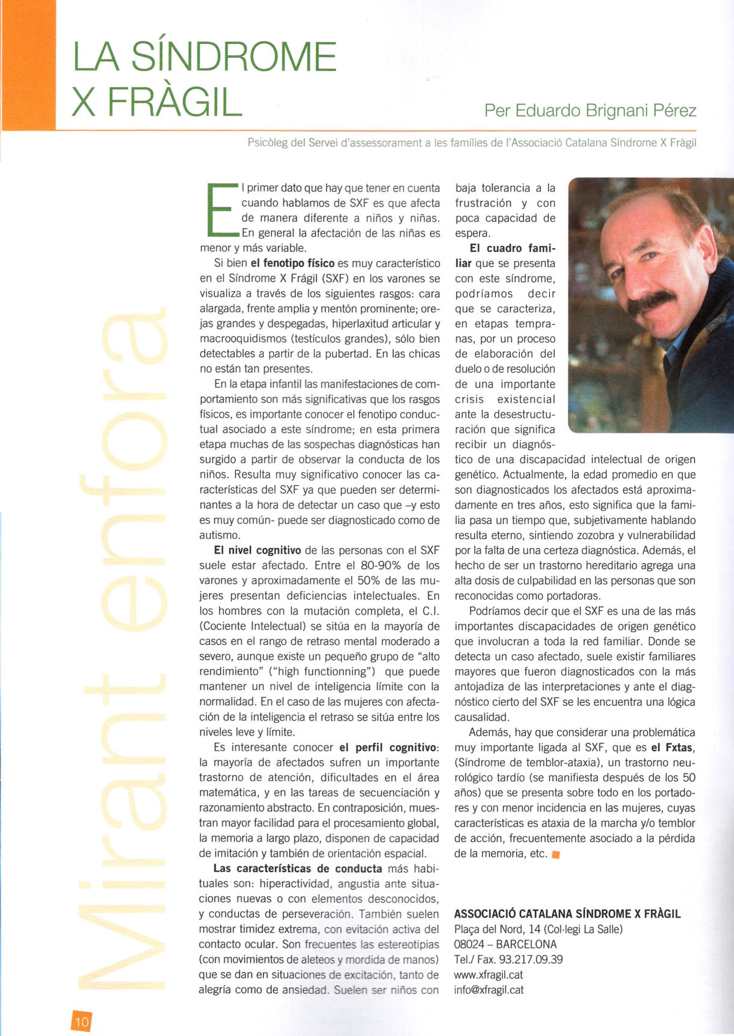 Artículo para la revista Fundació Finestelles